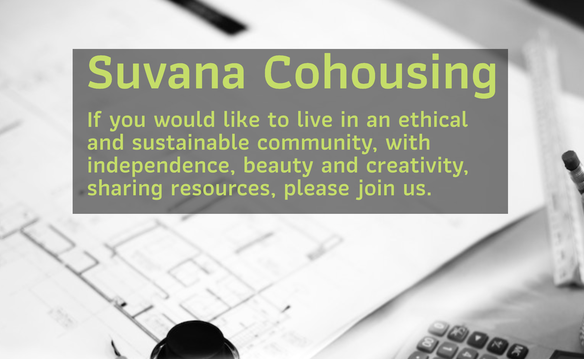 Suvana Cohousing headline